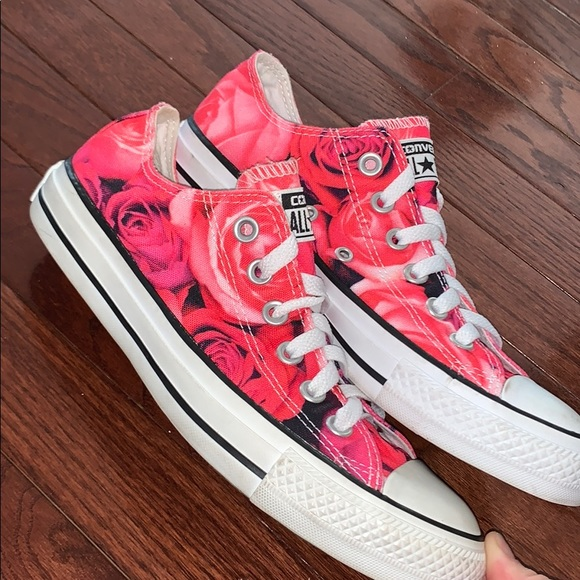 Converse Other - Rose print Converse sneakers
